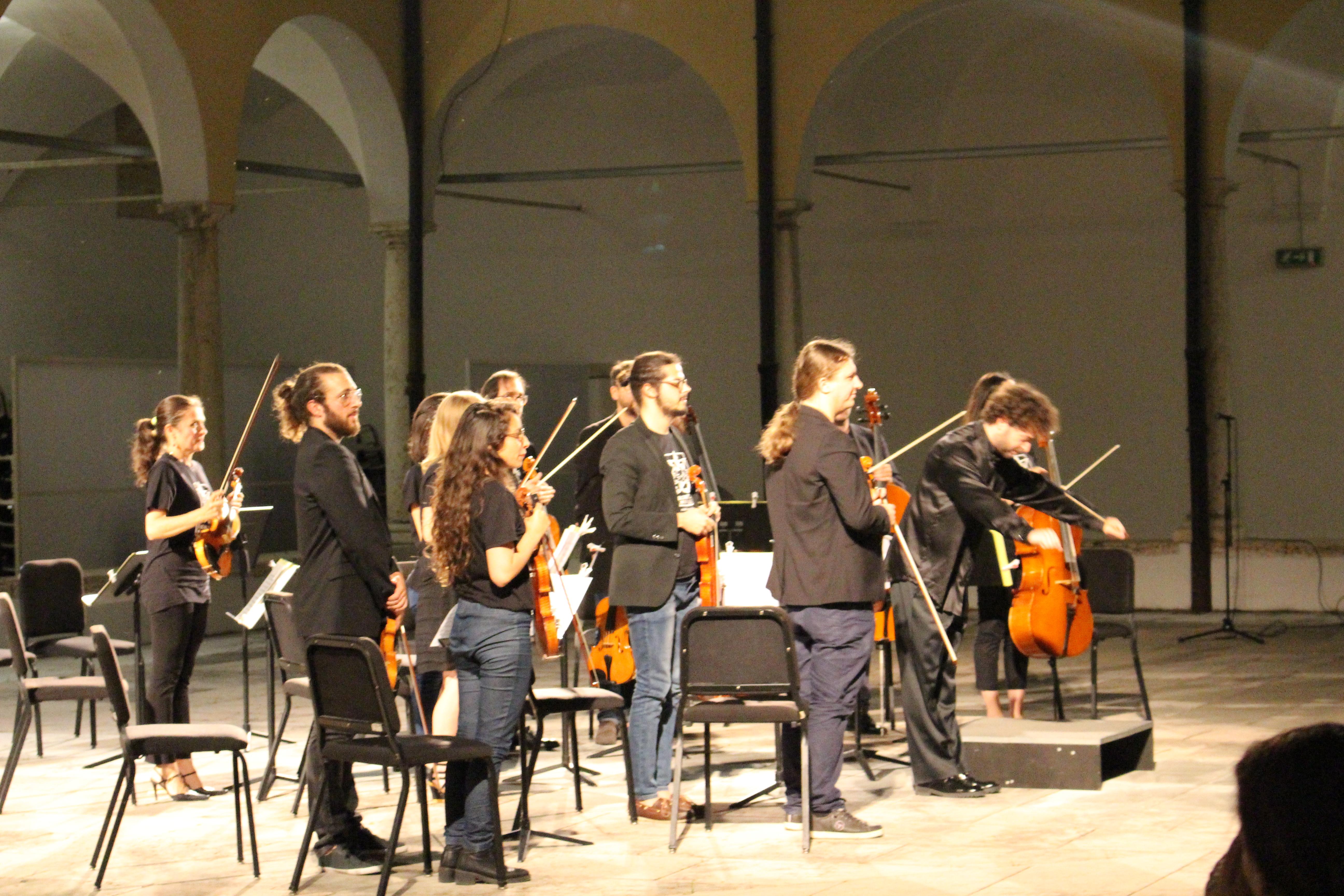 orchestra machiavelli concerto in chiostro conservatorio dall'abaco