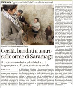 Presentazione di Cecità, L'Arena, 14 maggio 2016
