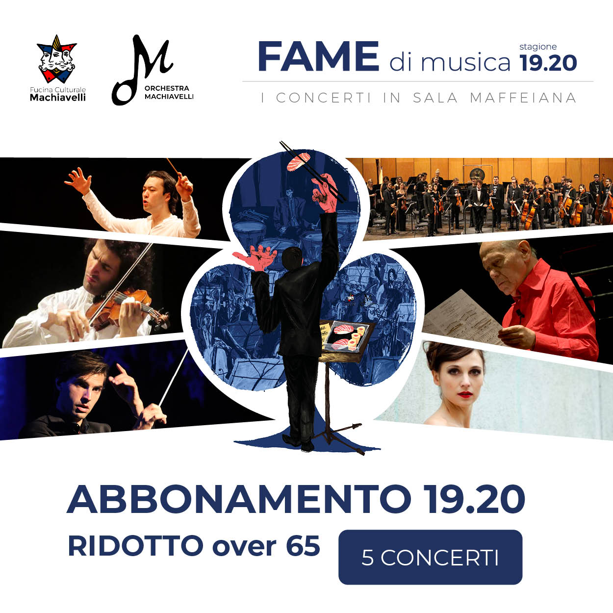 abbonamento ridotto over 65 - fame di musica - concerti orchestra machiavelli in sala maffeiana verona