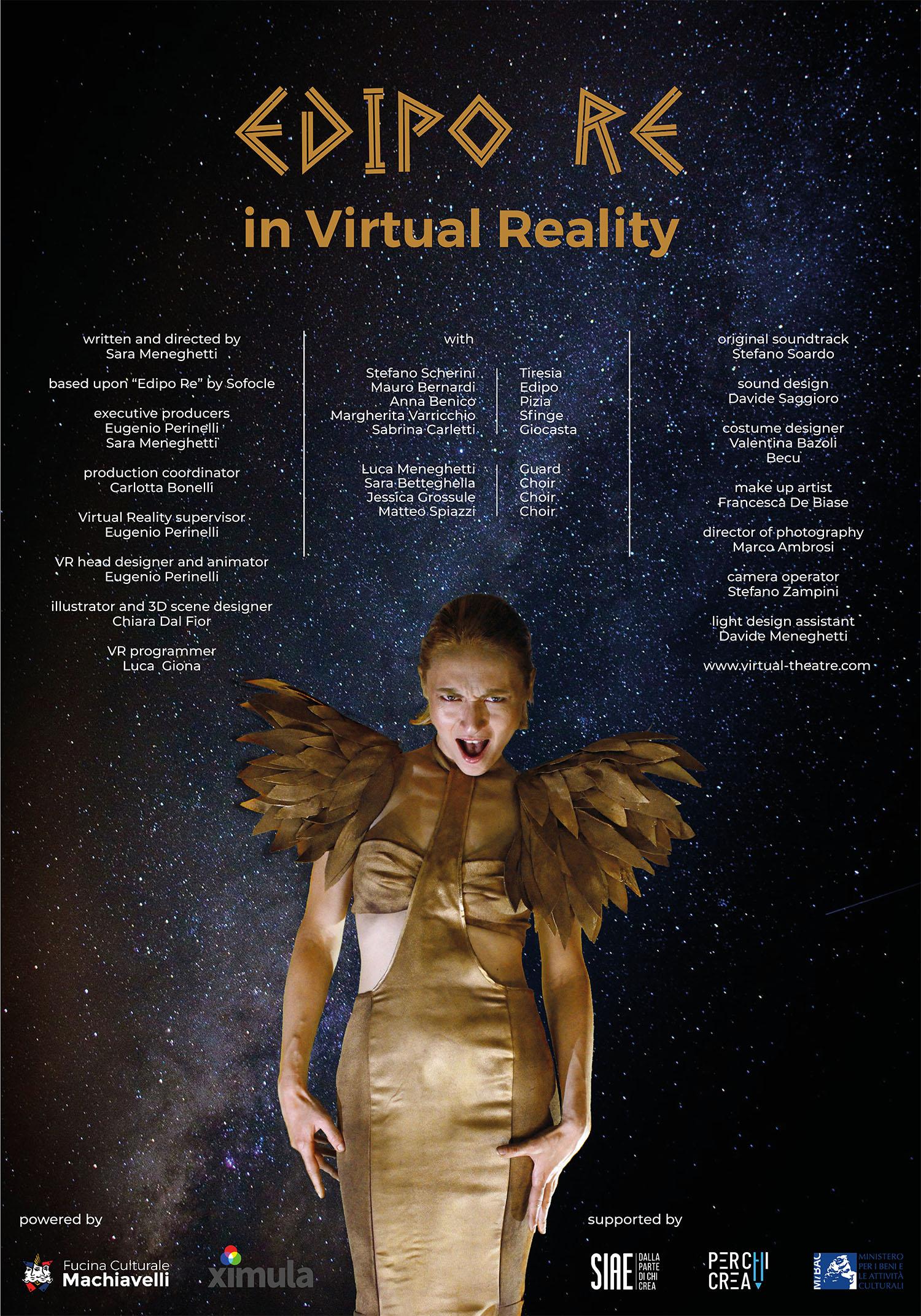 Edipo Re in Virtual Reality poster-Fucina Culturale Machiavelli